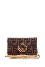 Fendi - Logo Mania Brown Belt Or Crossbody Convertible Bag
