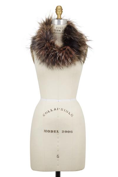 Viktoria Stass - Multicolor Silver Fox Fur Neckwarmer
