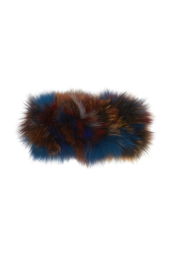 Viktoria Stass Multicolor Fox Fur Headband