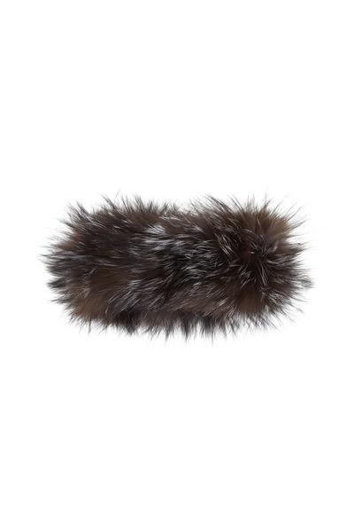 Viktoria Stass - Silver Knitted Fox Fur Headband