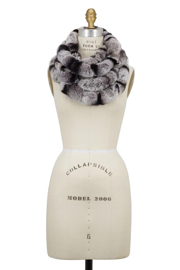Viktoria Stass Black & White Fur Loop Scarf