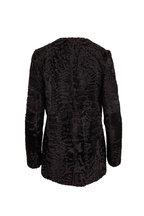 Oscar de la Renta Furs - Black Persian Lamb Coat