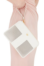 Tom Ford - Chalk Perforated Leather Small Zip Pouch