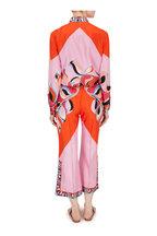 Pucci - Orange & Pink Printed Silk Blouse