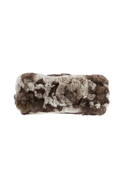 Viktoria Stass - Beige Multicolor Fur Headband