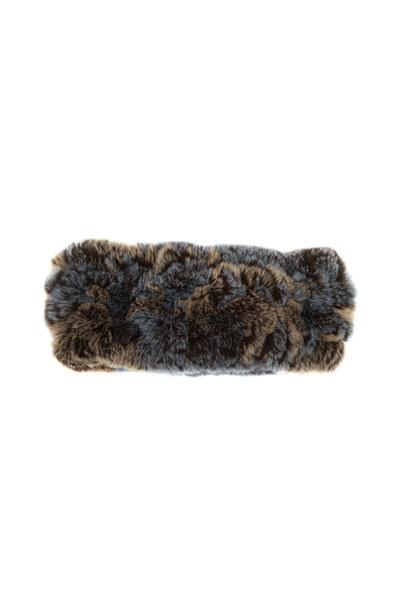 Viktoria Stass - Blue & Taupe Multicolor Fur Headband