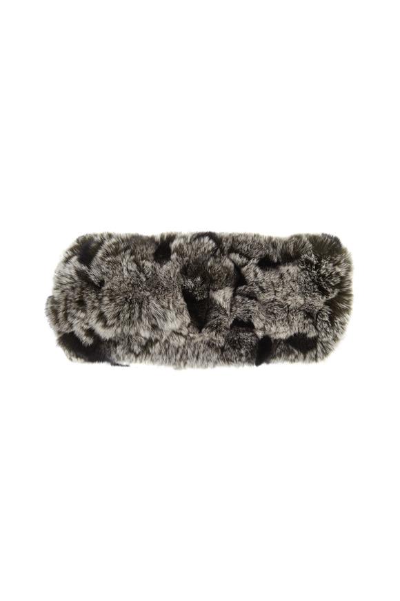 Viktoria Stass Black & White Fur Headband