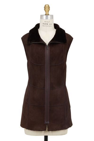 Viktoria Stass - Brown Shearling Long Vest