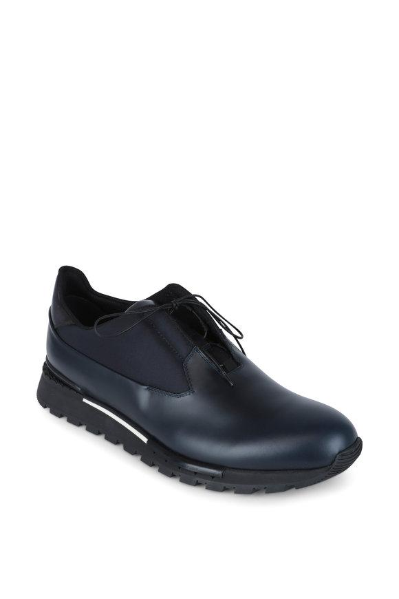 Berluti Torino Navy Blue Leather Sneaker