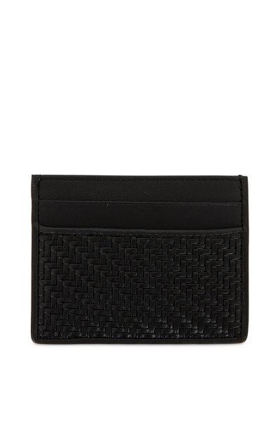 Ermenegildo Zegna - Black Woven Leather Card Case