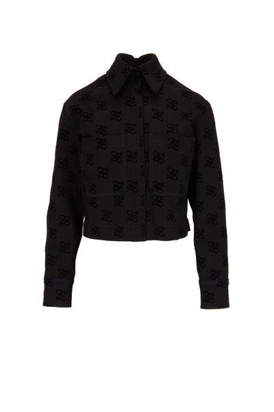 Fendi - Black Tonal Karligraphy Denim Jacket