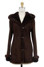 Viktoria Stass - Soft Brown Shearling & Mink Fur Coat
