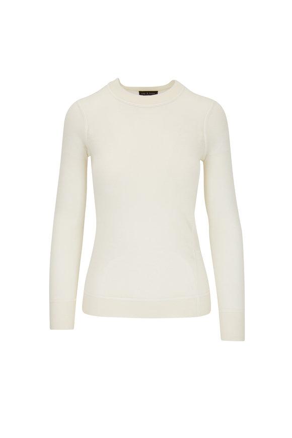 Rag & Bone Marina Chalk Cashmere Crewneck Sweater