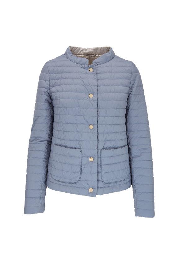 Herno Blue & Gray Reversible Puffer Jacket