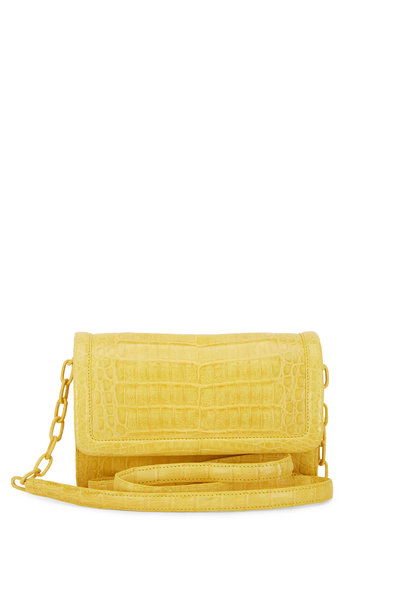 Nancy Gonzalez - Yellow Crocodile Large Chain Wallet