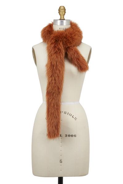 Viktoria Stass - Rust Fox Fur Skinny Scarf