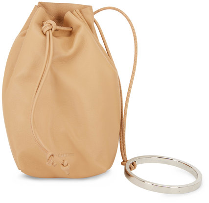 Jil Sander Sand Leather Bracelet Handle Mini Bucket Bag