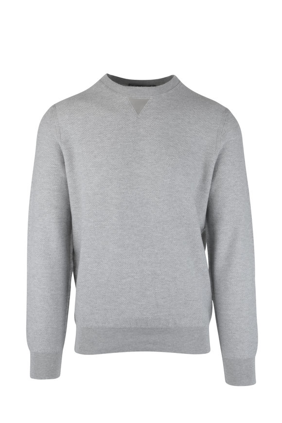 Ermenegildo Zegna Gray Cashmere Blend Sweater