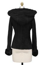 Viktoria Stass - Black Shearling & Mink Fur Coat