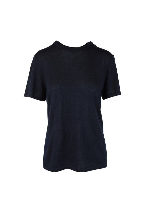 CO Collection Navy Blue Cashmere T-Shirt
