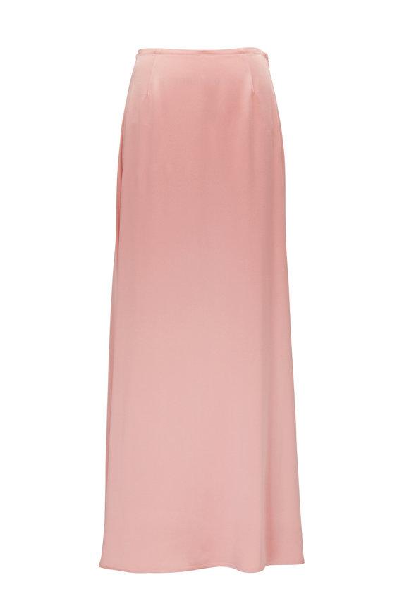 Sally LaPointe Pink Satin Maxi Skirt