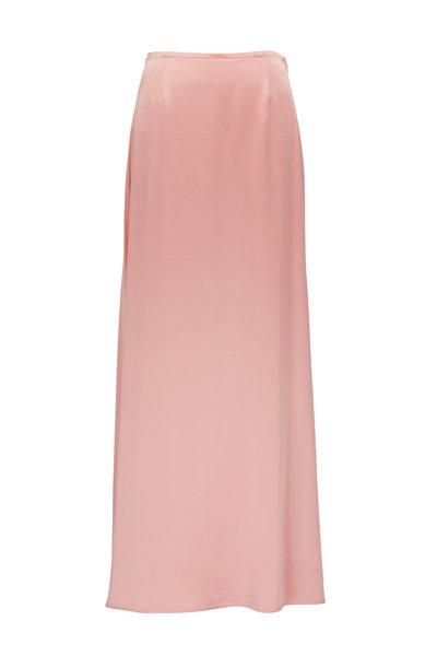 Sally LaPointe - Pink Satin Maxi Skirt