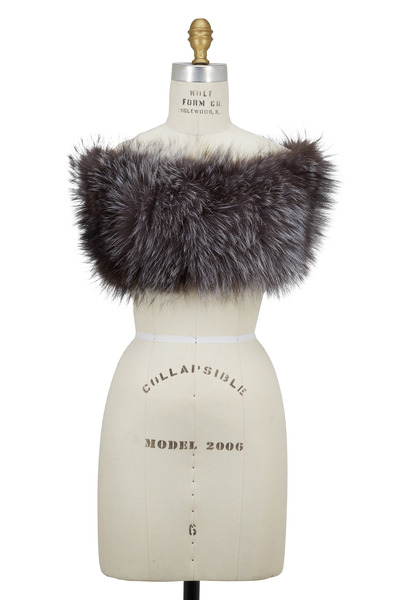 Viktoria Stass - Silver Fox Fur Shoulder Warmer