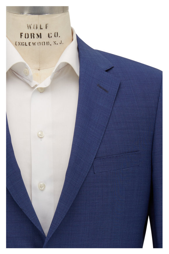 Samuelsohn Bennet Royal Blue Tic Wool Suit