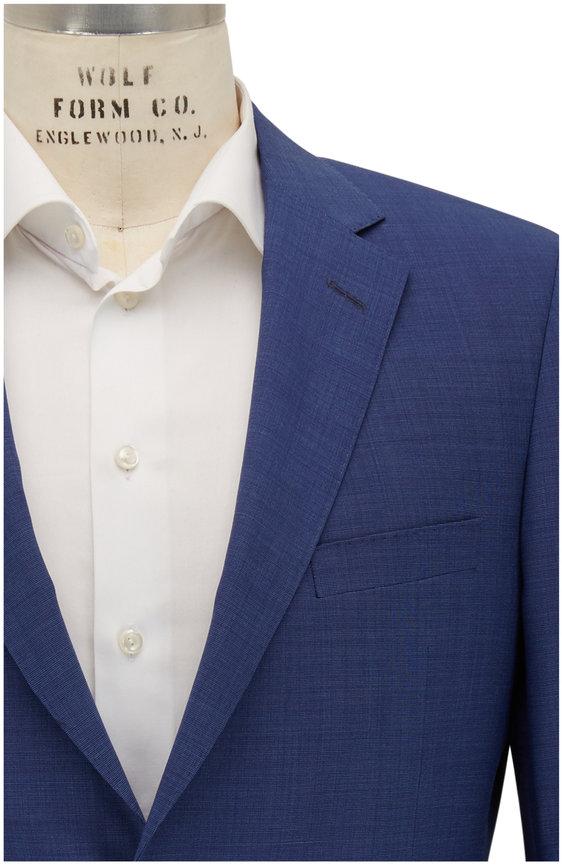 Samuelsohn Bennet Royal Blue Tic Wool Suit