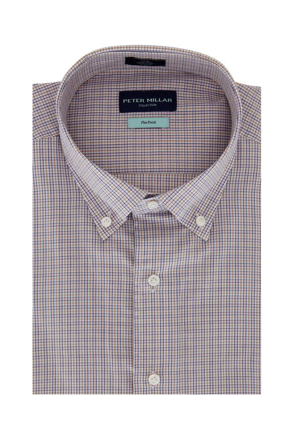 Peter Millar Light Blue & Pink Check Sport Shirt
