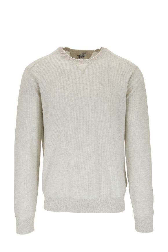 Raffi  Gray Vanise Cotton Crewneck Pullover