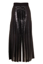 Akris - Black & Silver All Over Sequin Pleated Skirt