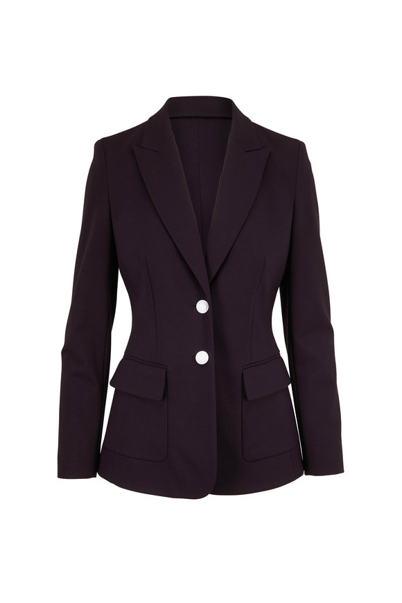 Escada Bavoyit Navy Jersey Fitted Two Button Jacket