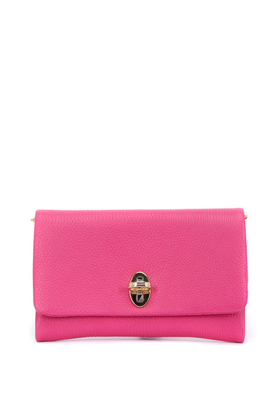 Dolce & Gabbana - Taormina Hot Pink Leather Flap Front Clutch