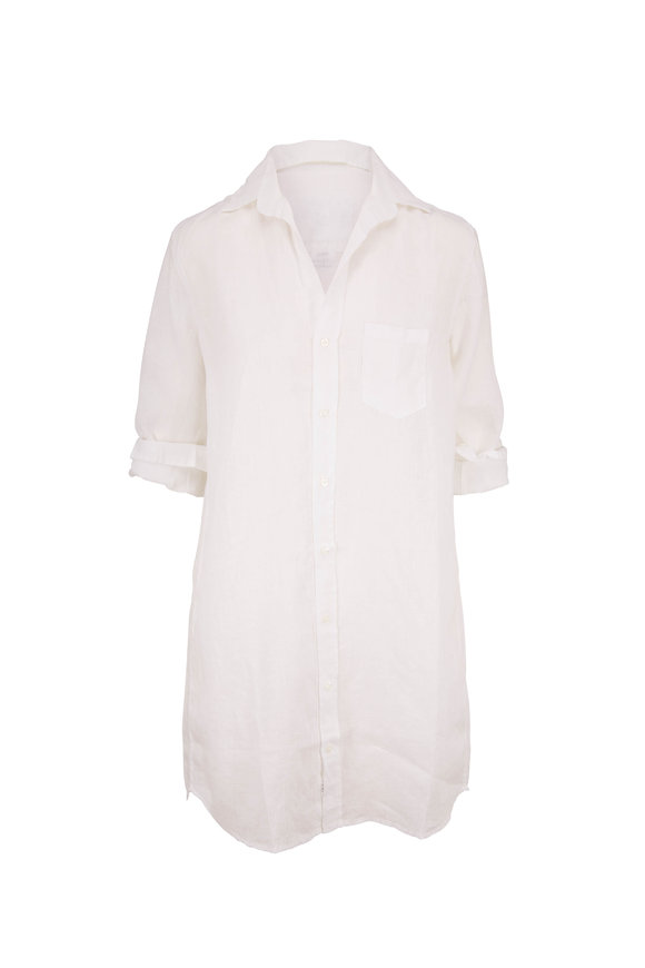 Frank & Eileen Mary White Linen Button Down Shirt
