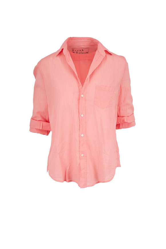Frank & Eileen Eileen Flamingo Pink Cotton Button Down Shirt