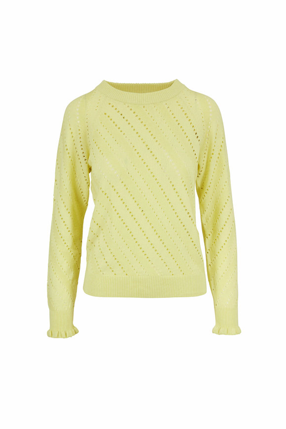 See by Chloé Young Green Cotton & Wool Knit Sweater