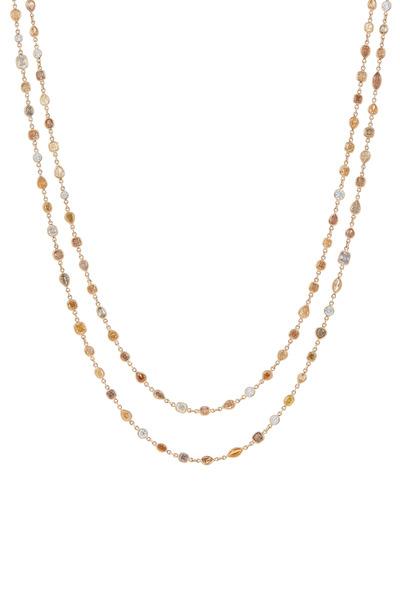 Kwiat - 18K Yellow Gold Diamond String Necklace