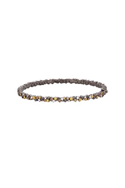 Paul Morelli - 18K White Gold Confetti Multi Diamond Bangle