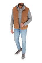 Vince - Gray Cashmere Front Zip Hoodie