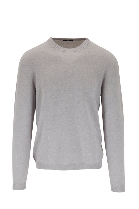 04651/ Light Gray Cotton & Cashmere Sweater