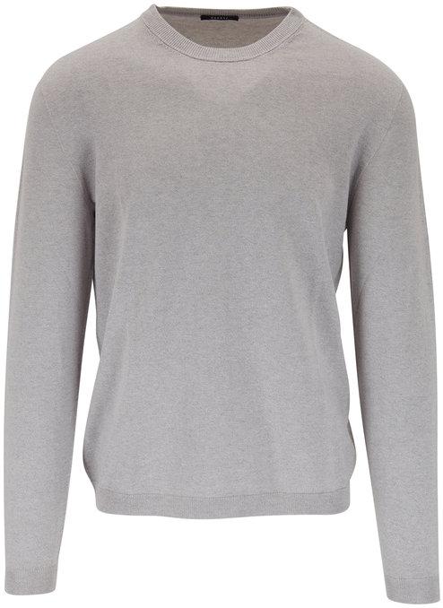 04651/ Light Gray Cotton & Cashmere Sweater