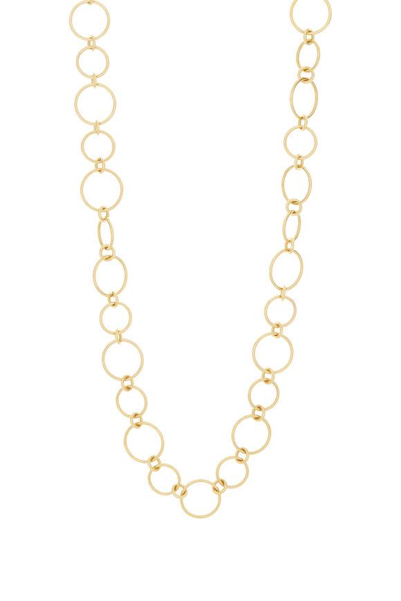 Caroline Ellen 20K Yellow Gold Link Chain Necklace