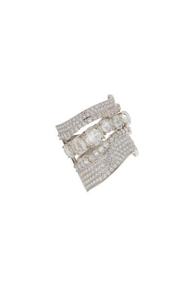 Etho Maria - 18K White Gold Rose Cut Diamond Ring
