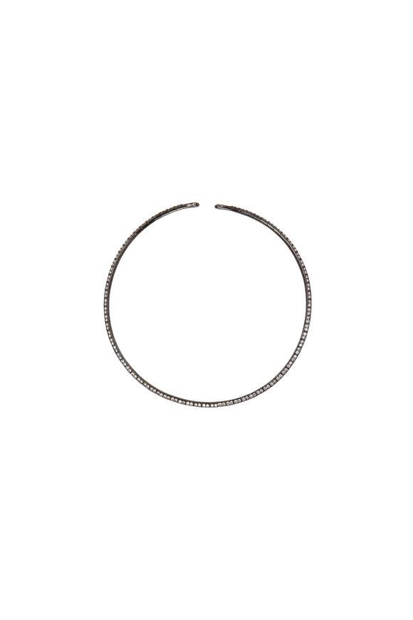 Etho Maria 18K White Gold Diamond Collar Necklace
