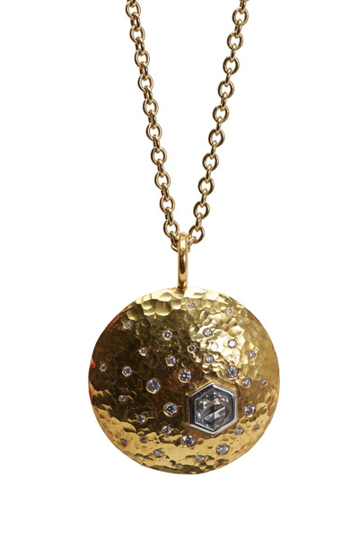 Kathleen Dughi - Finestre Yellow Gold Double Sided Diamond Pendant