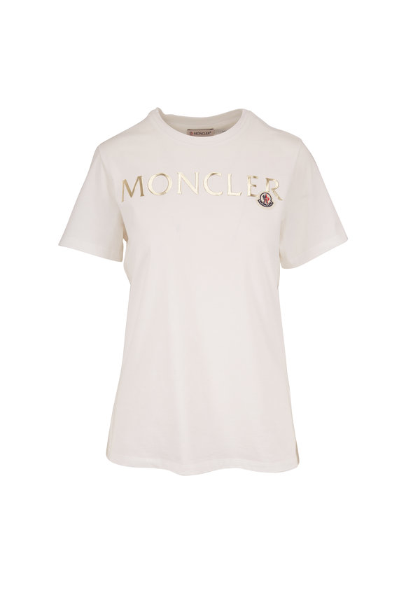 Moncler White Graphic Logo T-Shirt