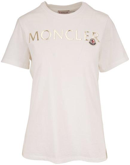 Moncler White Graphic Logo T-Shirt