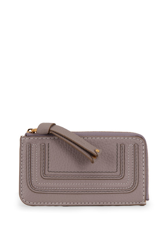 Chloé Marcie Cashmere Gray Leather Coin Purse
