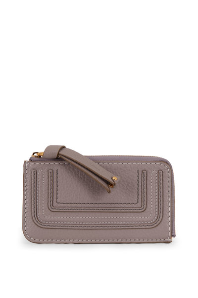 Chloé - Marcie Cashmere Gray Leather Coin Purse